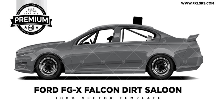 Ford FG-X Speedway Dirt Saloon 'Premium' Vector Template