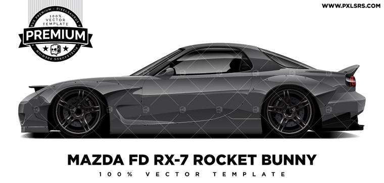 Mazda FD RX-7 Rocketbunny 'Premium' Vector Template