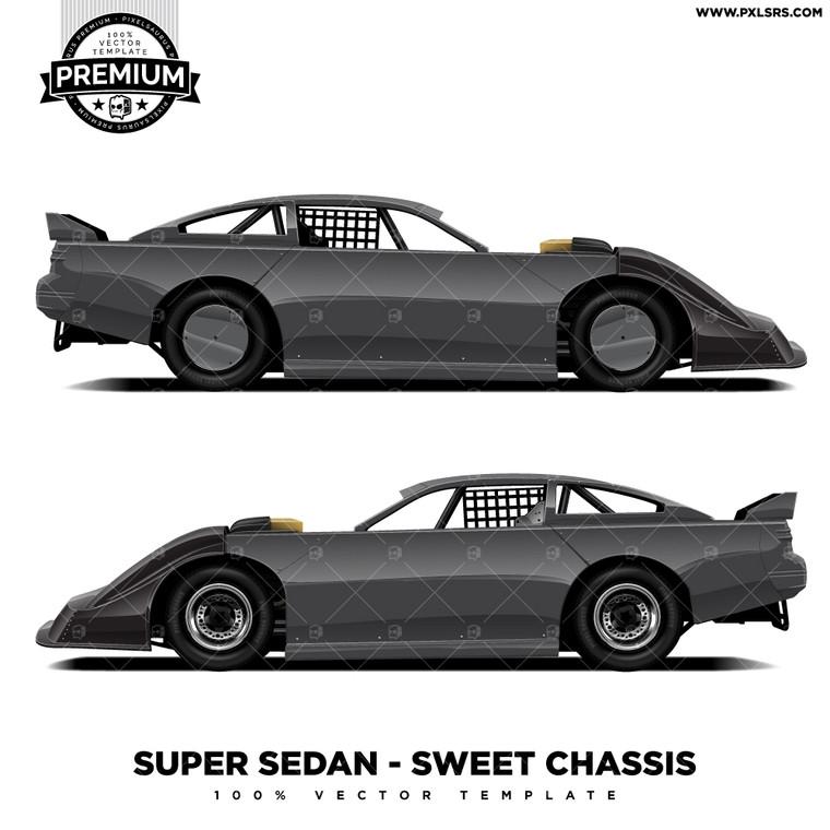 Super Sedan - Sweet Chassis 'Premium' Vector Template