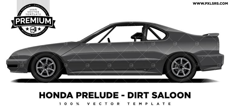 Honda Prelude - Dirt Saloon 'Premium' Vector Template