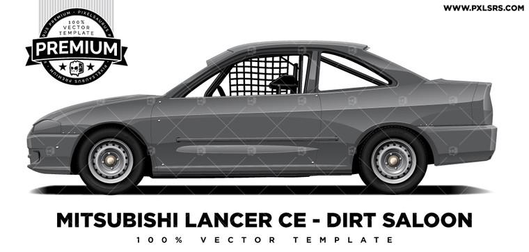 Mitsubishi Lancer / Mirage Coupe - Dirt Saloon 'Premium' Vector Template