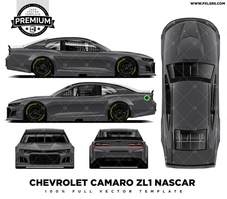 2019 Chevrolet Camaro ZL1 Nascar - Full 'Premium' Vector Template