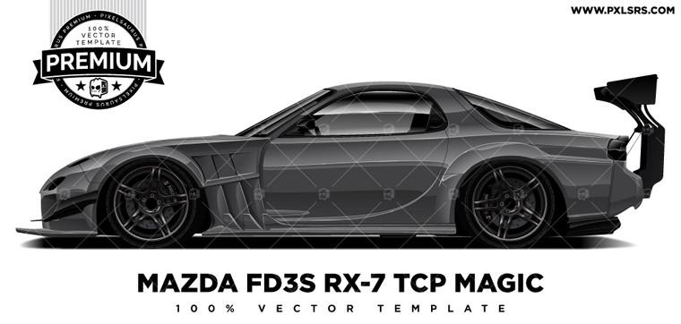 Mazda FD RX-7 TCP Magic 'Premium' Vector Template