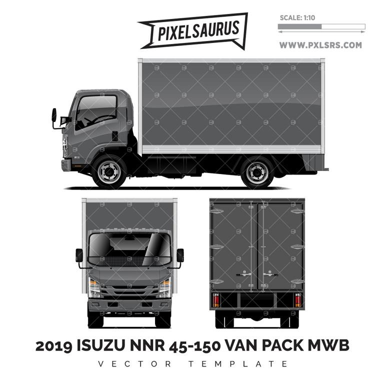 2019 Isuzu NNR 45-150 Van-Pack MWB - Vector Template