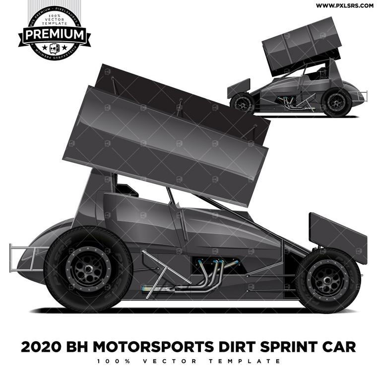 2020 BH Motorsports Dirt Sprint Car 'Premium' Vector Template