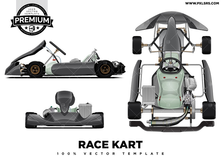 Race Kart 'Premium' Vector Template