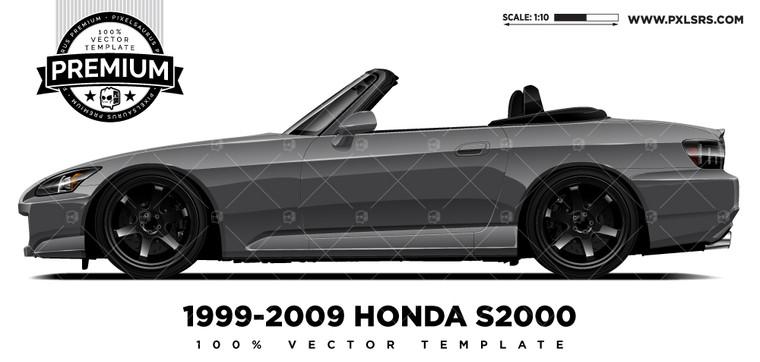 1999-2009 Honda S2000 'Premium' Vector Template