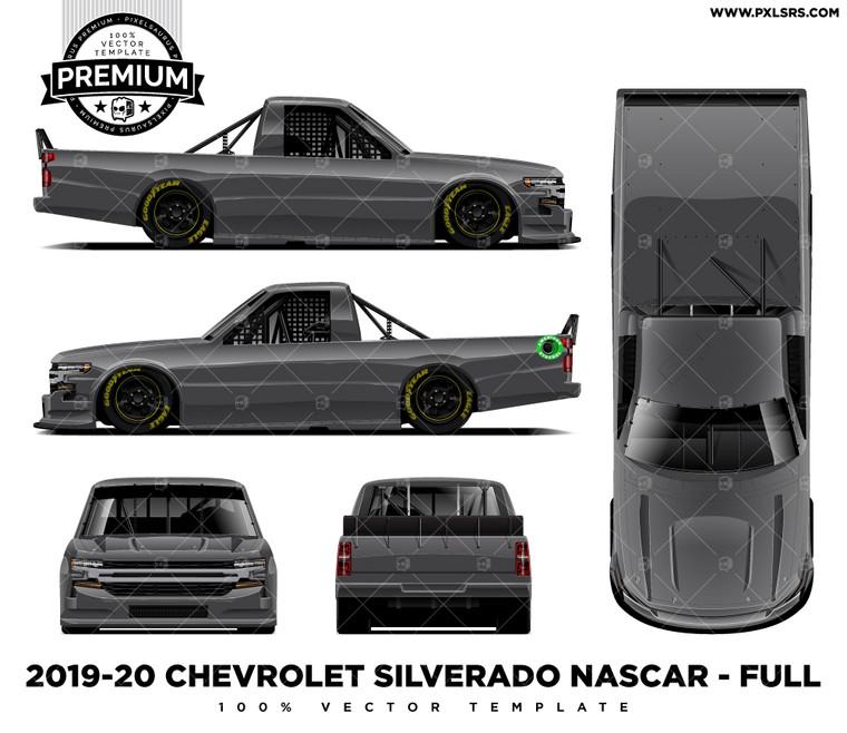2019-20 Chevrolet Silverado Nascar Truck Series Full 'Premium' Vector Template