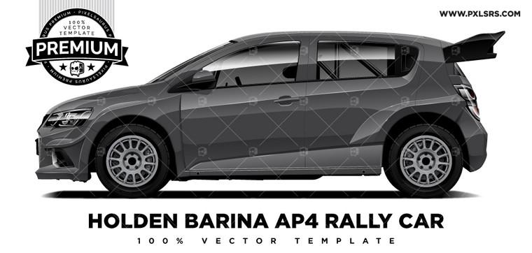 Holden Barina AP4 Rally Car 'Premium' Vector Template