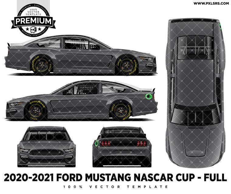 2019/2020/2021 Ford Mustang NASCAR Full 'Premium' Vector Template