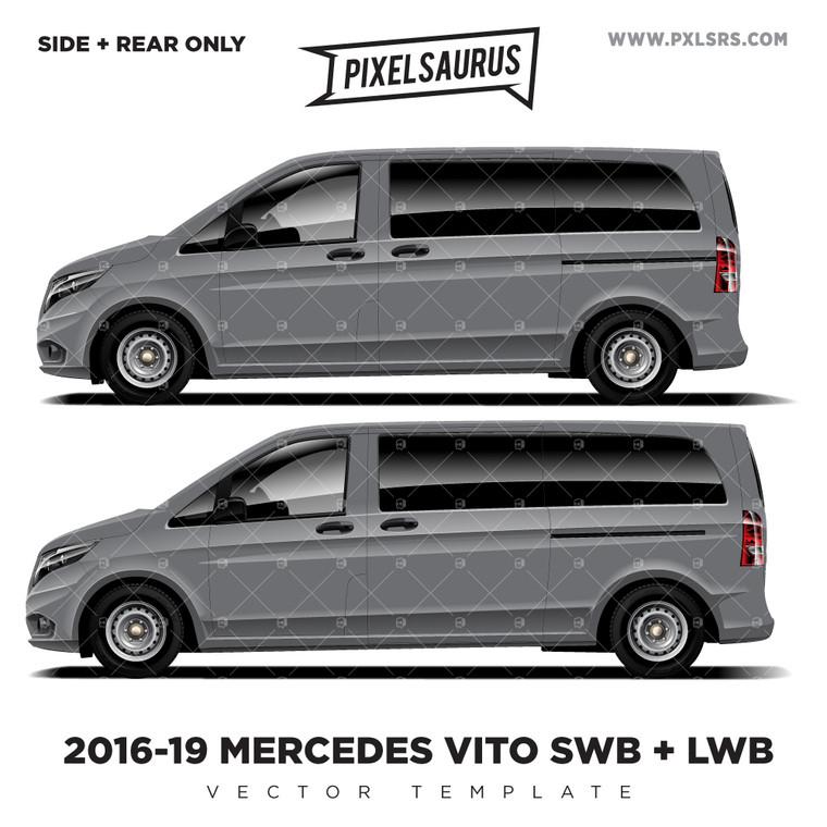 2016-19 Mercedes Benz Vito SWB+LWB Vector Template