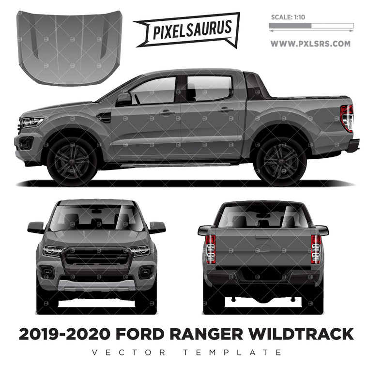 2019-20 Ford Ranger PX3 Wildtrack 'Vector' Template