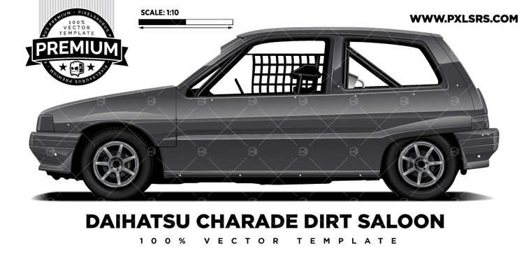 Daihatsu Charade Speedway Dirt Saloon 'Premium' Vector Template