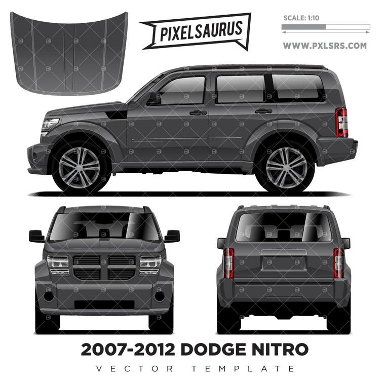 2007-2012 Dodge Nitro Vector Template