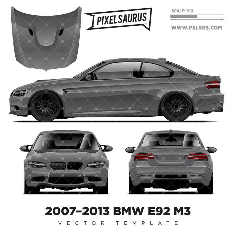 2007-2013 BMW E92 M3 Coupe vector Template