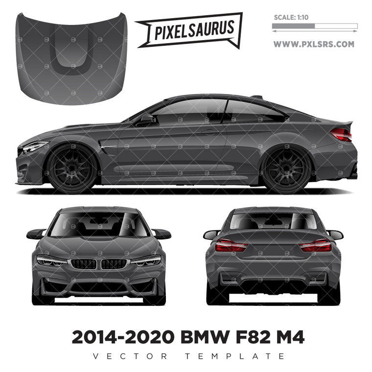 2014-2020 BMW F82 M4 COUPE vector Template