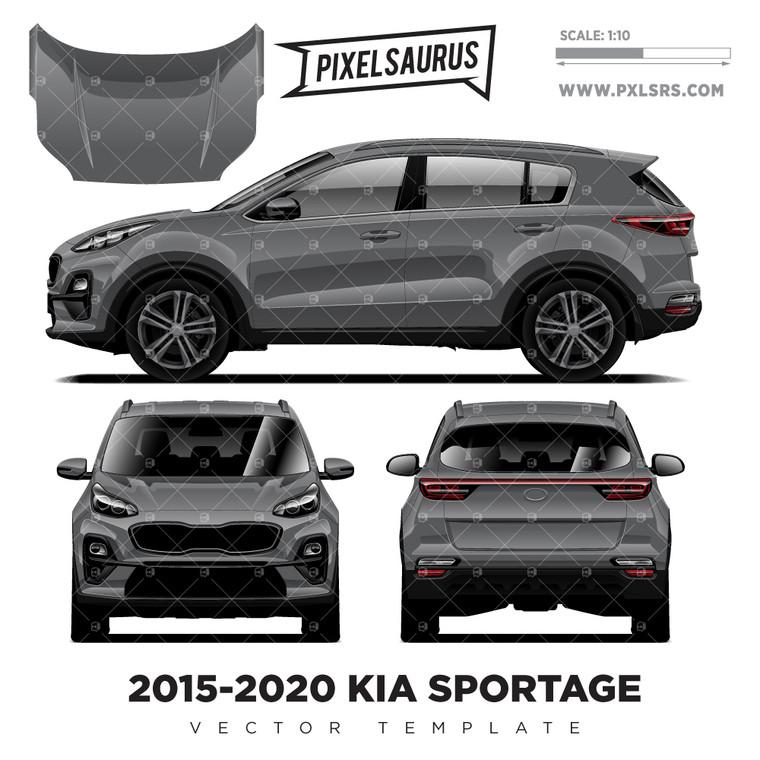 2015-2020 KIA Sportage Vector Template