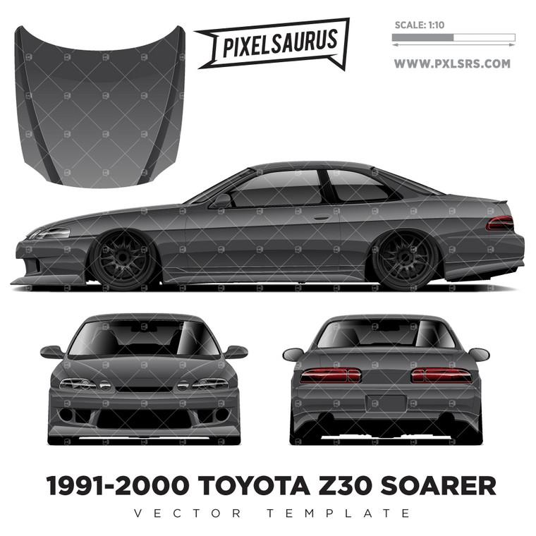 1991-2000 Toyota Z30 Soarer / Lexus SC300 Vector Template