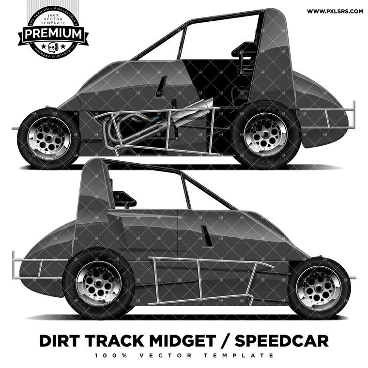 Dirt Track Midget / Speedcar 'Premium' Vector Template