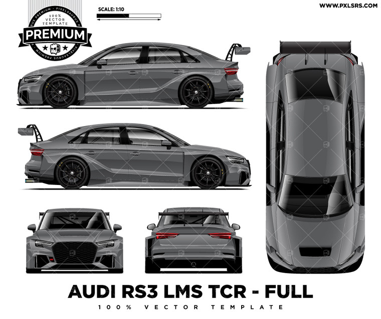 Audi RS4 LMS TCR Full 'Premium' Vector Template
