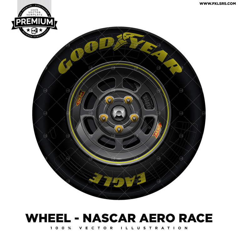 Nascar Aero Race 'Premium' Vector Wheel