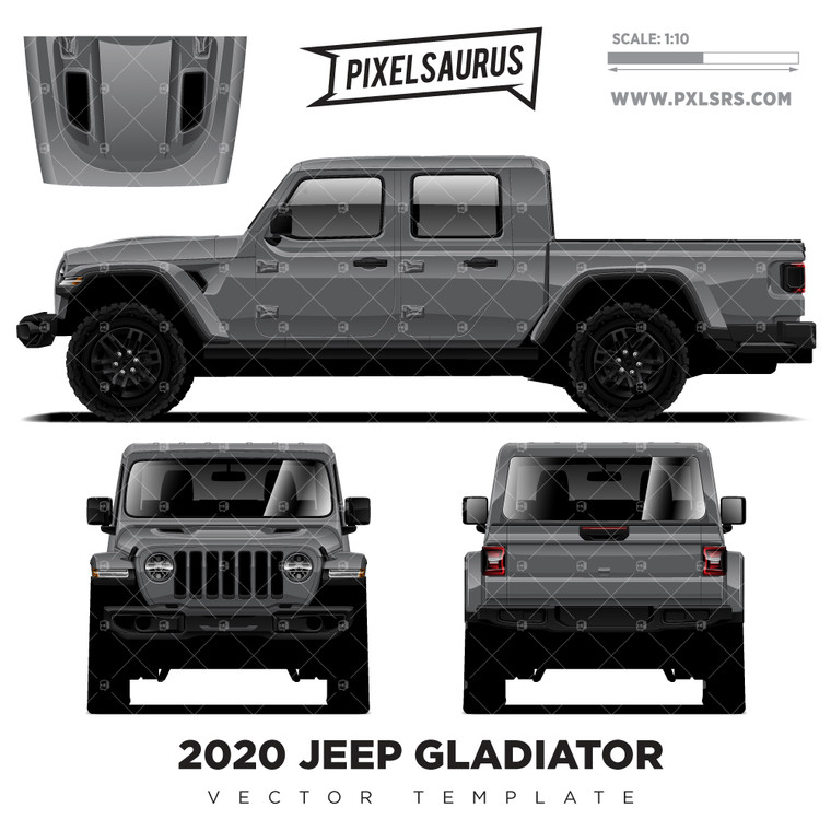 2020 Jeep Gladiator Vector Template