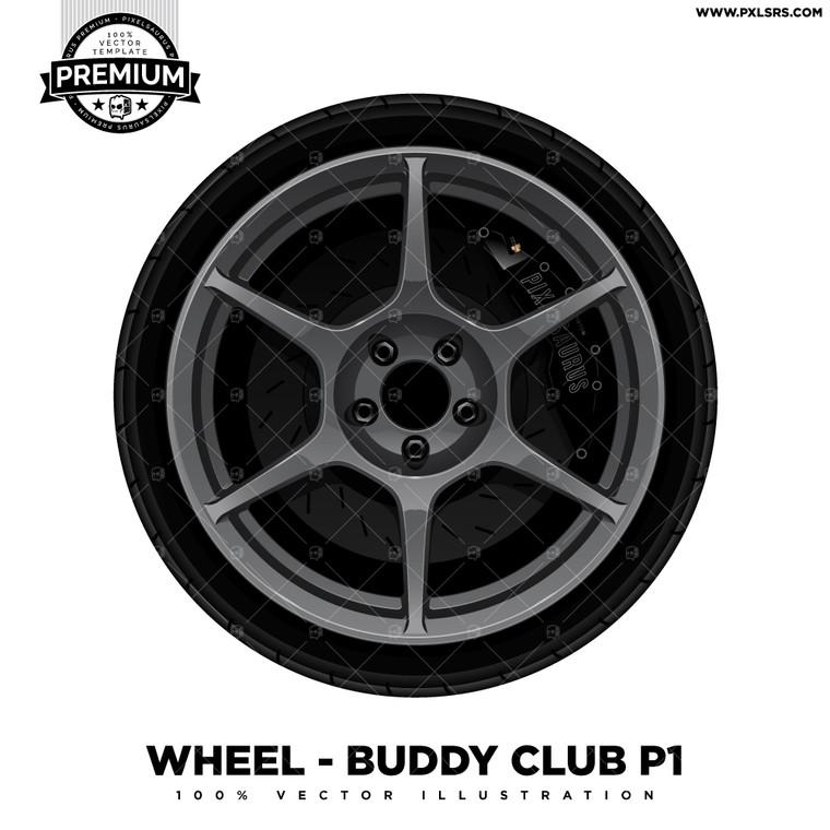 Buddy Club P1 'Premium' Vector Wheel