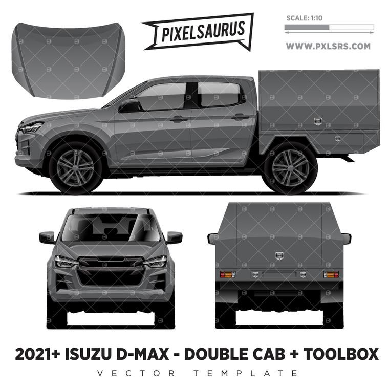 2021+ Isuzu D-Max (RG) Double Cab + Tray  'Vector' Template