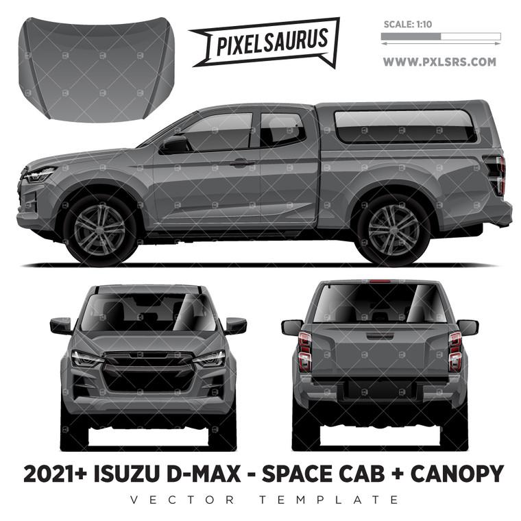 2021+ Isuzu D-Max (RG) Space Cab + Canopy  'Vector' Template