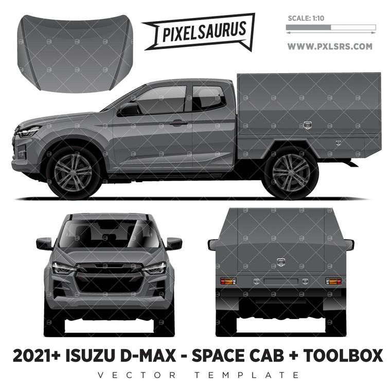 2021+ Isuzu D-Max (RG) Space Cab + Toolbox 'Vector' Template
