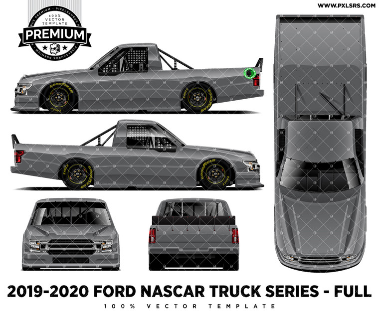 2019-20 Ford F-150 Nascar Truck Series - Full 'Premium' Side Vector Template