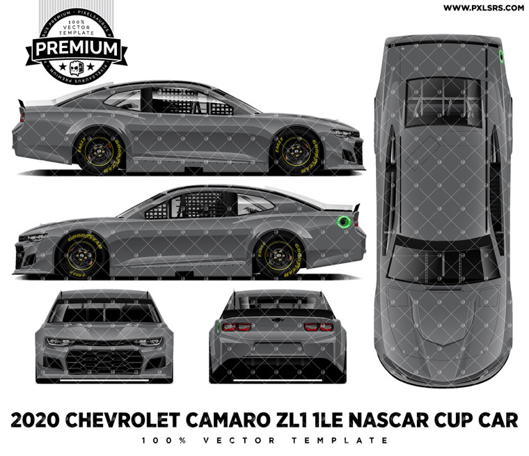 2020 Chevrolet Camaro ZL1 1LE Nascar - Full 'Premium' Vector Template