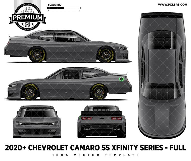 2020 Chevrolet Camaro SS Nascar Xfinity Series - Full 'Premium' Vector Template