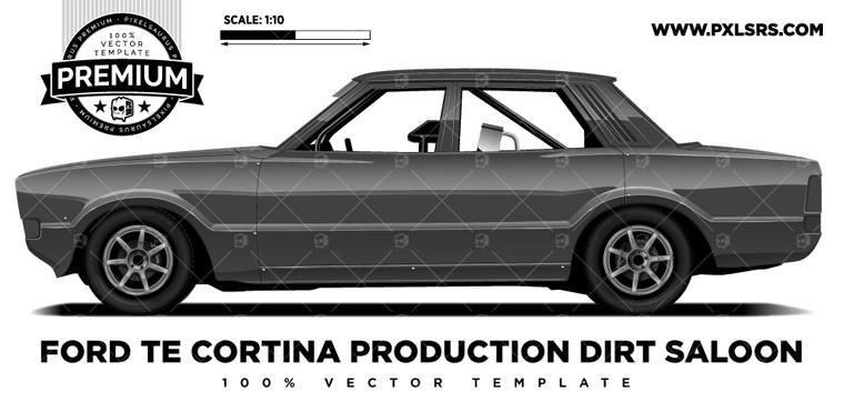 Ford TE Cortina Speedway Dirt Saloon 'Premium' Vector Template