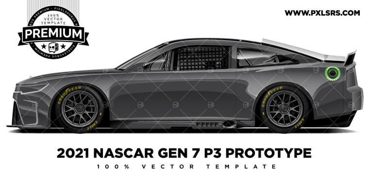 NASCAR GEN 7 (P3) Prototype - Side 'Premium' Vector Template