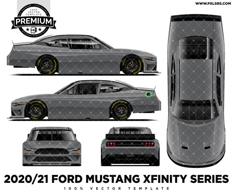 2020/21 Ford Mustang Nascar Xfinity Series - Full 'Premium' Vector Template