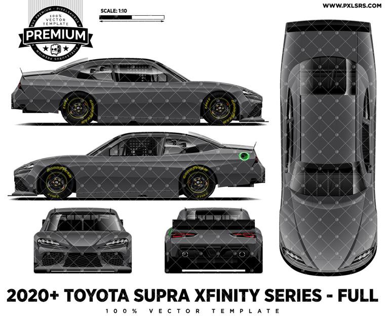 2020/21 Toyota Supra Nascar Xfinity Series - Full 'Premium' Vector Template
