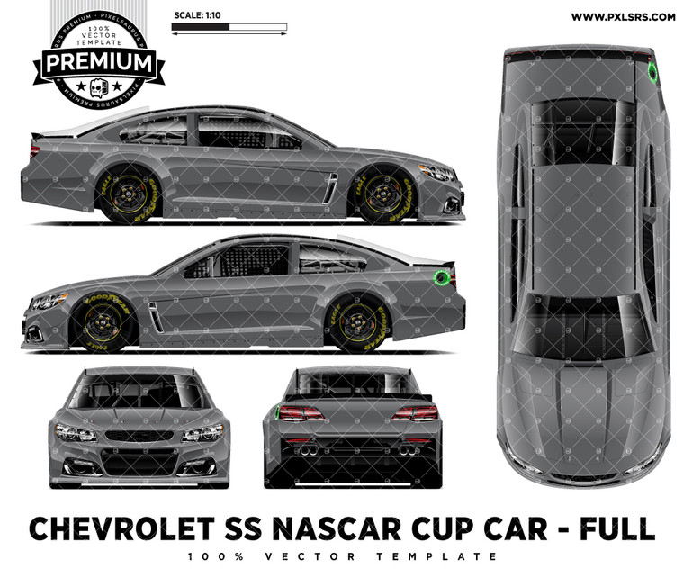 2015-2017 Chevrolet SS Nascar Cup Car - Full 'Premium' Vector Template