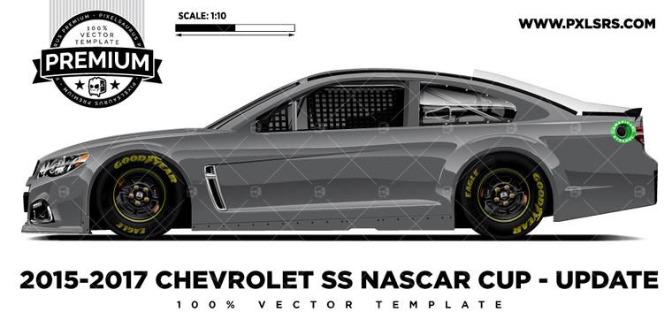 2015-2017 Chevrolet SS Nascar - Update 'Premium' Vector Template