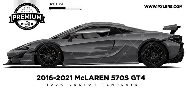 2016-2021 McLaren 570s GT4 'Premium Side' Vector Template