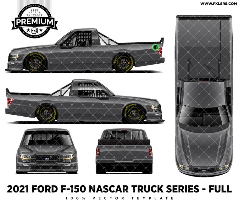 2021 Ford F-150 Nascar Truck Series - Full 'Premium' Side Vector Template