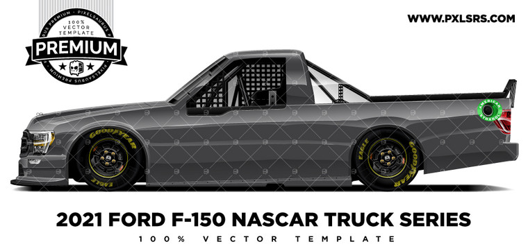 2021 Ford F-150 Nascar Truck Series 'Premium' Side Vector Template