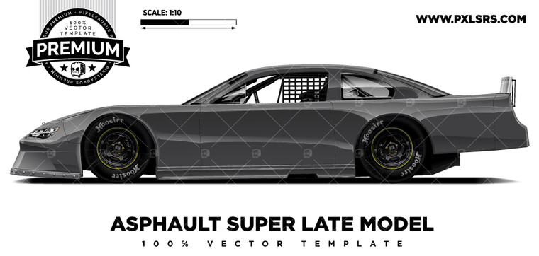 Asphalt Super Late model  - Side 'Premium' Vector Template