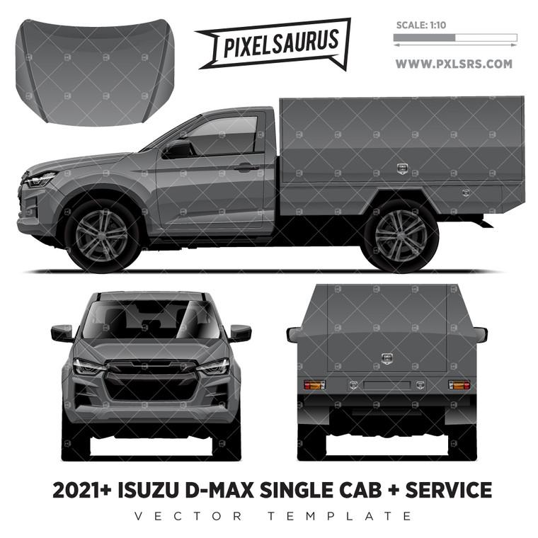2021+ Isuzu D-Max (RG) Single Cab + Service 'Vector' Template
