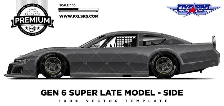 Asphalt Gen 6 Super Late model  - Side 'Premium' Vector Template
