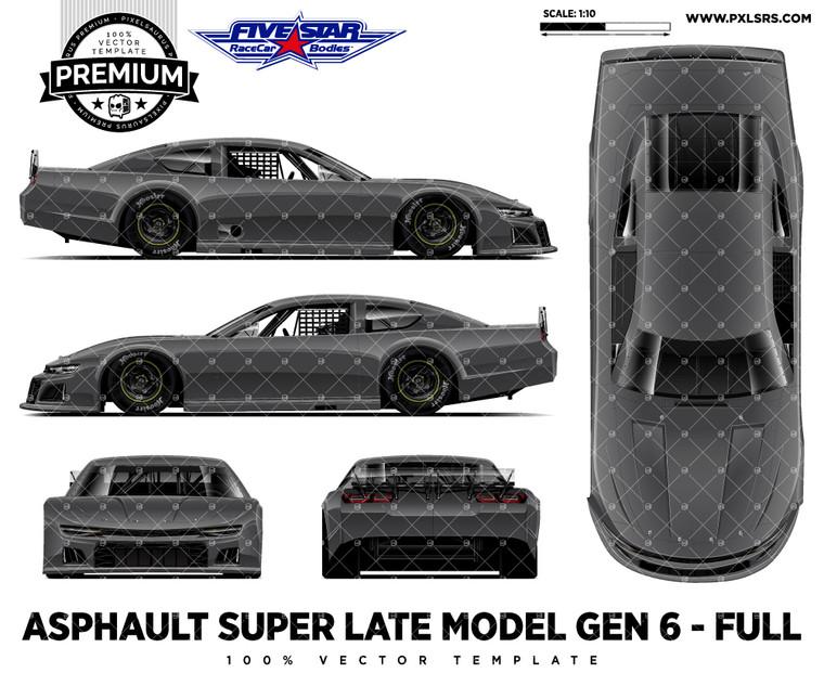 Asphalt Gen-6 Super Late model  - Full 'Premium' Vector Template
