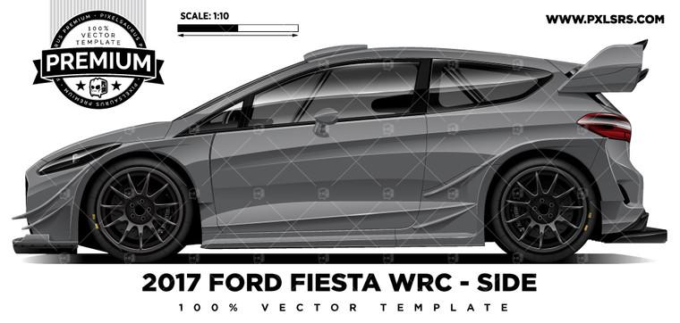 2017 Ford Festa ST WRC 'Premium Side'  Vector Template