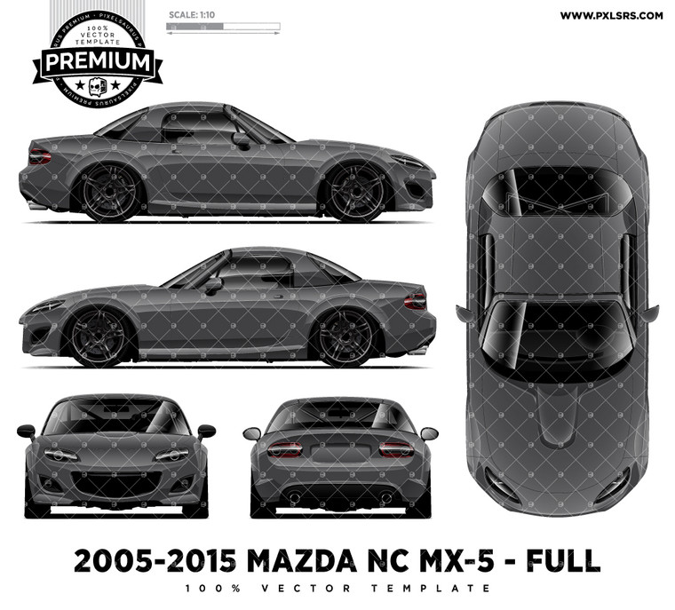2005-20015 Mazda NC MX-5 / Miata 'Premium' Full Template