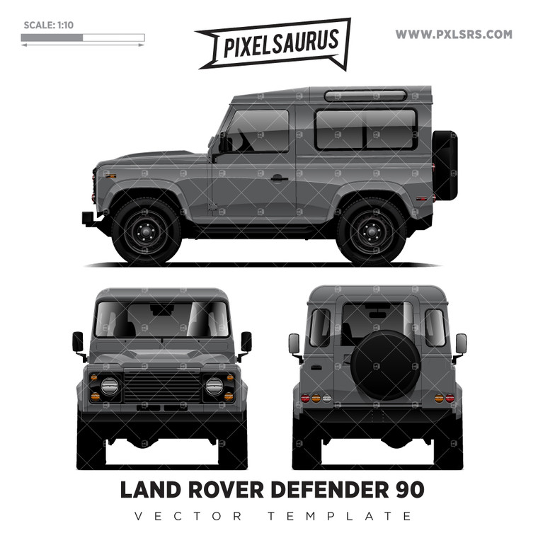 Land Rover Defender 90 'Vector' Template