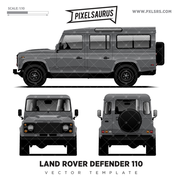 Land Rover Defender 110 'Vector' Template